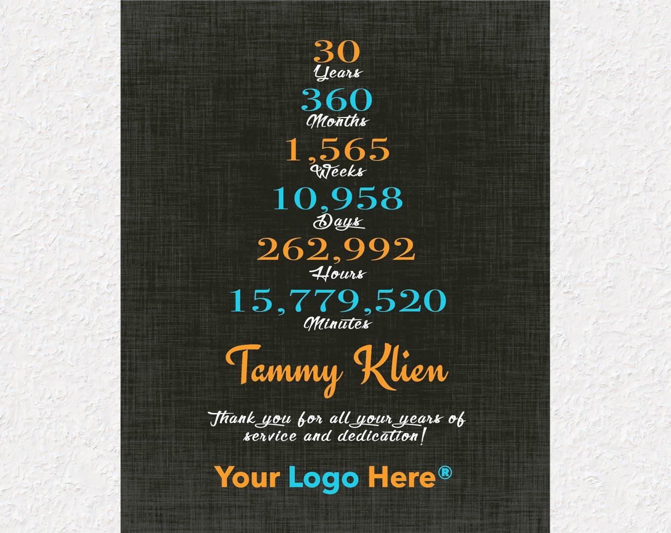 Work Anniversary Gift Ideas  30 Year Anniversary Gift 15 Year Work Anniversary Gift