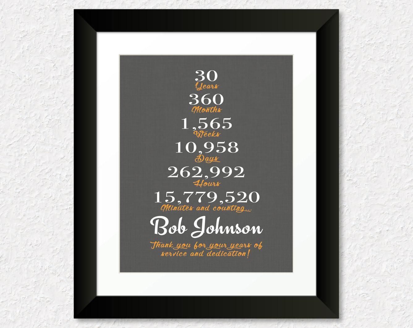 Work Anniversary Gift Ideas  30 Year Anniversary Gift 15 Year Work Anniversary by