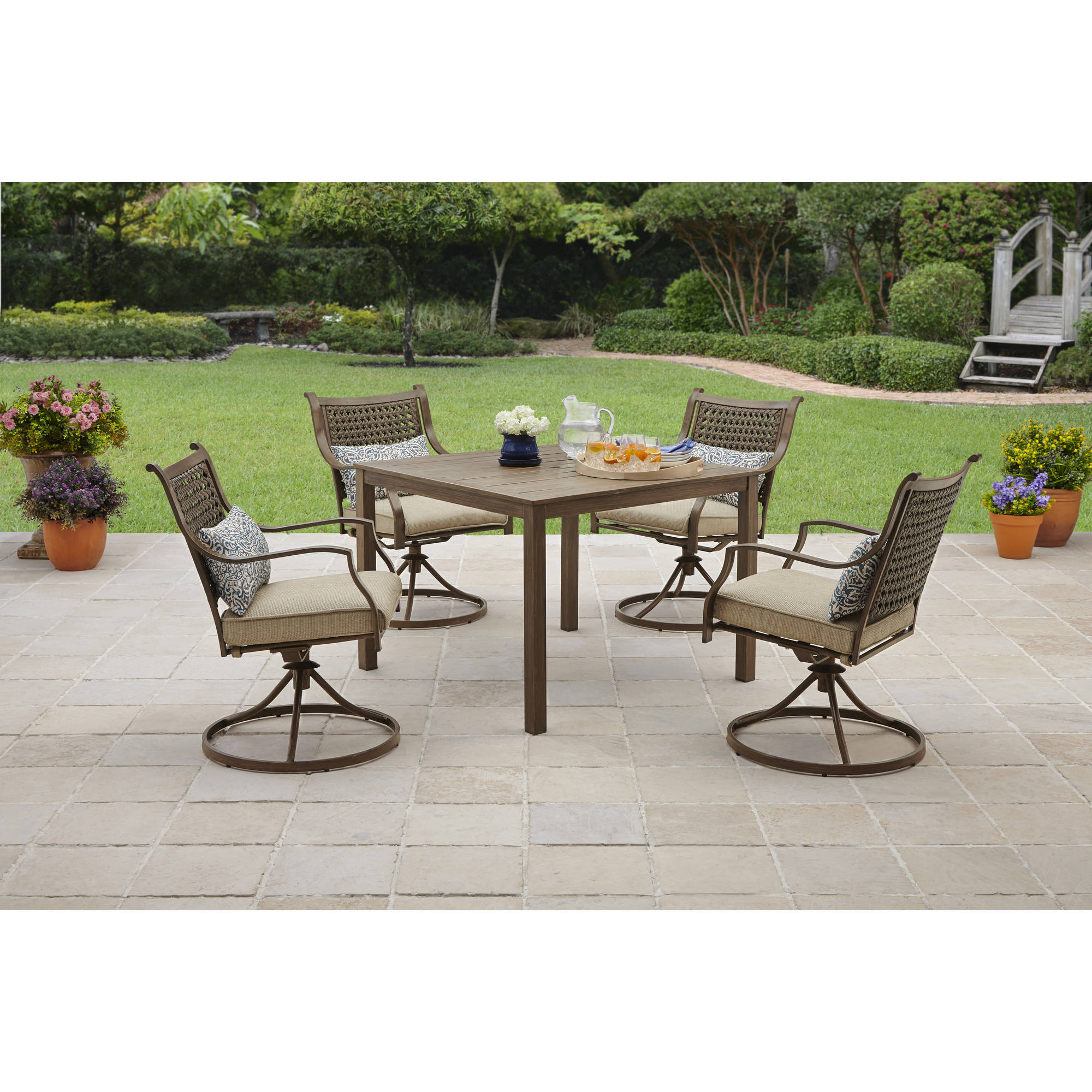 Best ideas about Wrought Iron Patio Furniture . Save or Pin Wrought Iron Patio Furniture Walmart Now.
