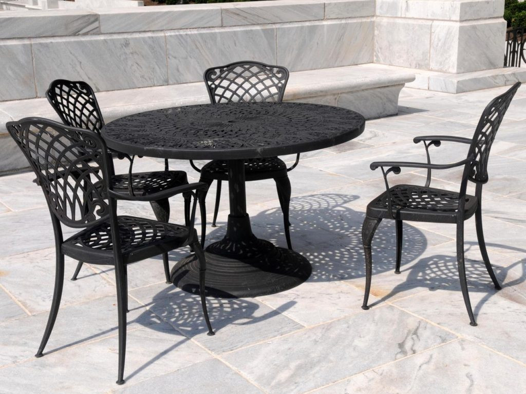 Best ideas about Wrought Iron Patio Furniture . Save or Pin Wrought Iron Patio Set Table Chair Furniture for Garden Now.