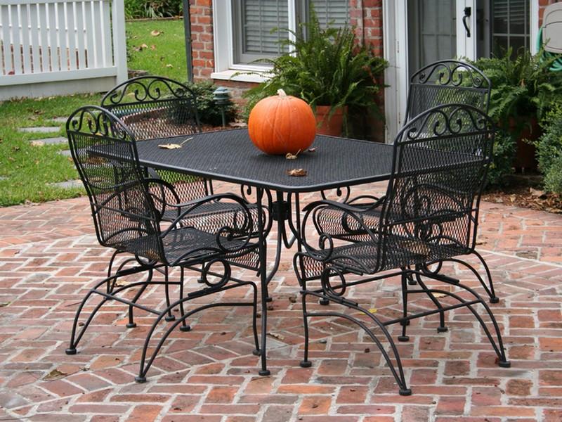 Best ideas about Wrought Iron Patio Furniture . Save or Pin Wrought Iron Patio Furniture Lowes Decor IdeasDecor Ideas Now.