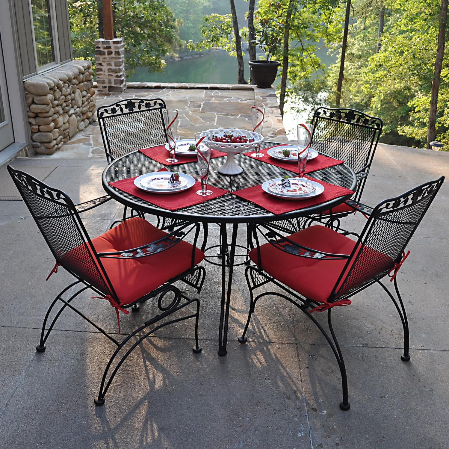 Best ideas about Wrought Iron Patio Furniture . Save or Pin Rod Iron Patio Set Now.