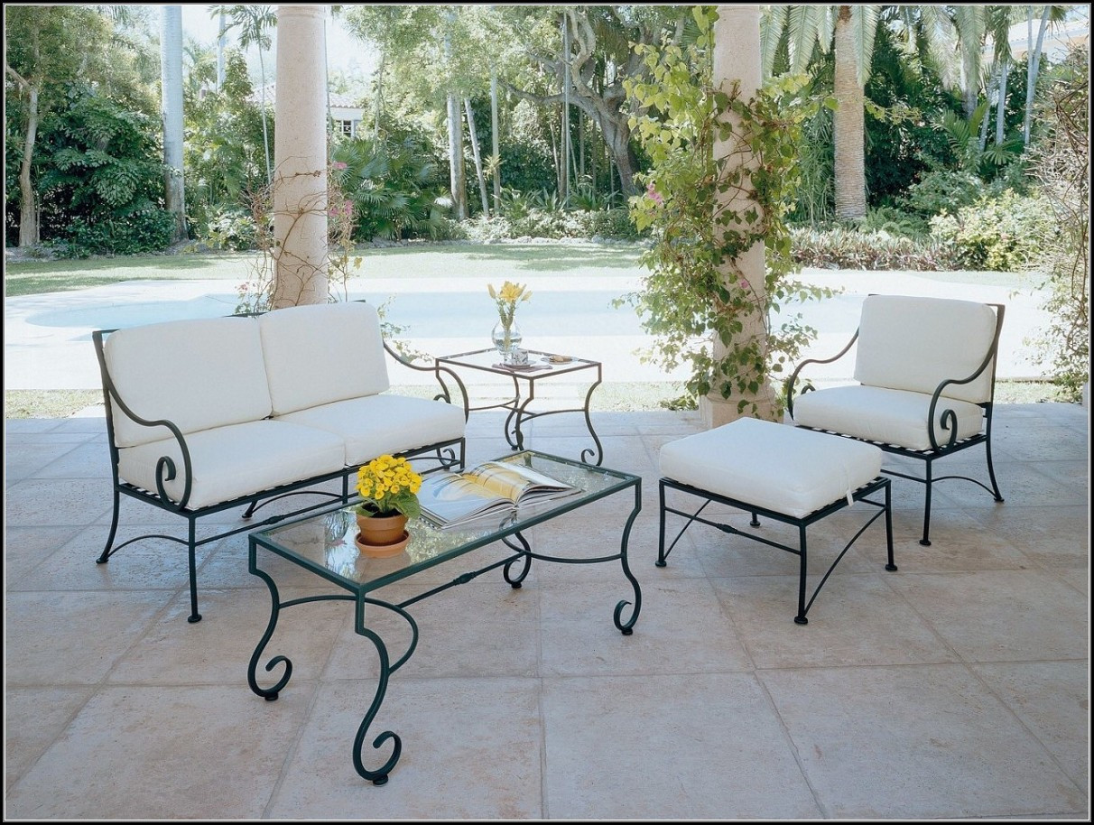 Best ideas about Wrought Iron Patio Furniture . Save or Pin Wrought Iron Patio Furniture Cushions Patios Home Now.