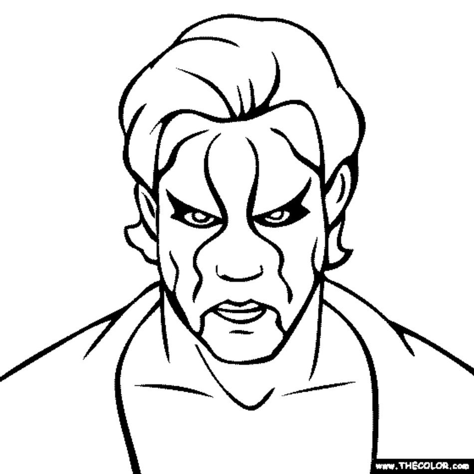 Wwe Printable Coloring Pages  Wwe Coloring Pages