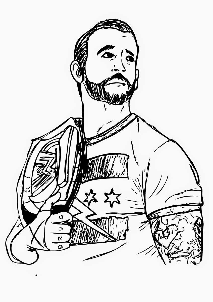 Wwe Printable Coloring Pages  Wwe Dean Ambrose Coloring Page Free Printable Coloring