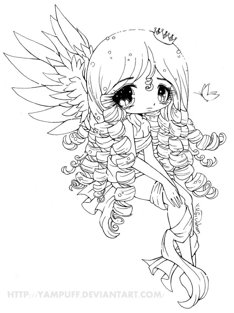 Yampuff Coloring Pages  Elyssa Lineart by YamPuff on DeviantArt