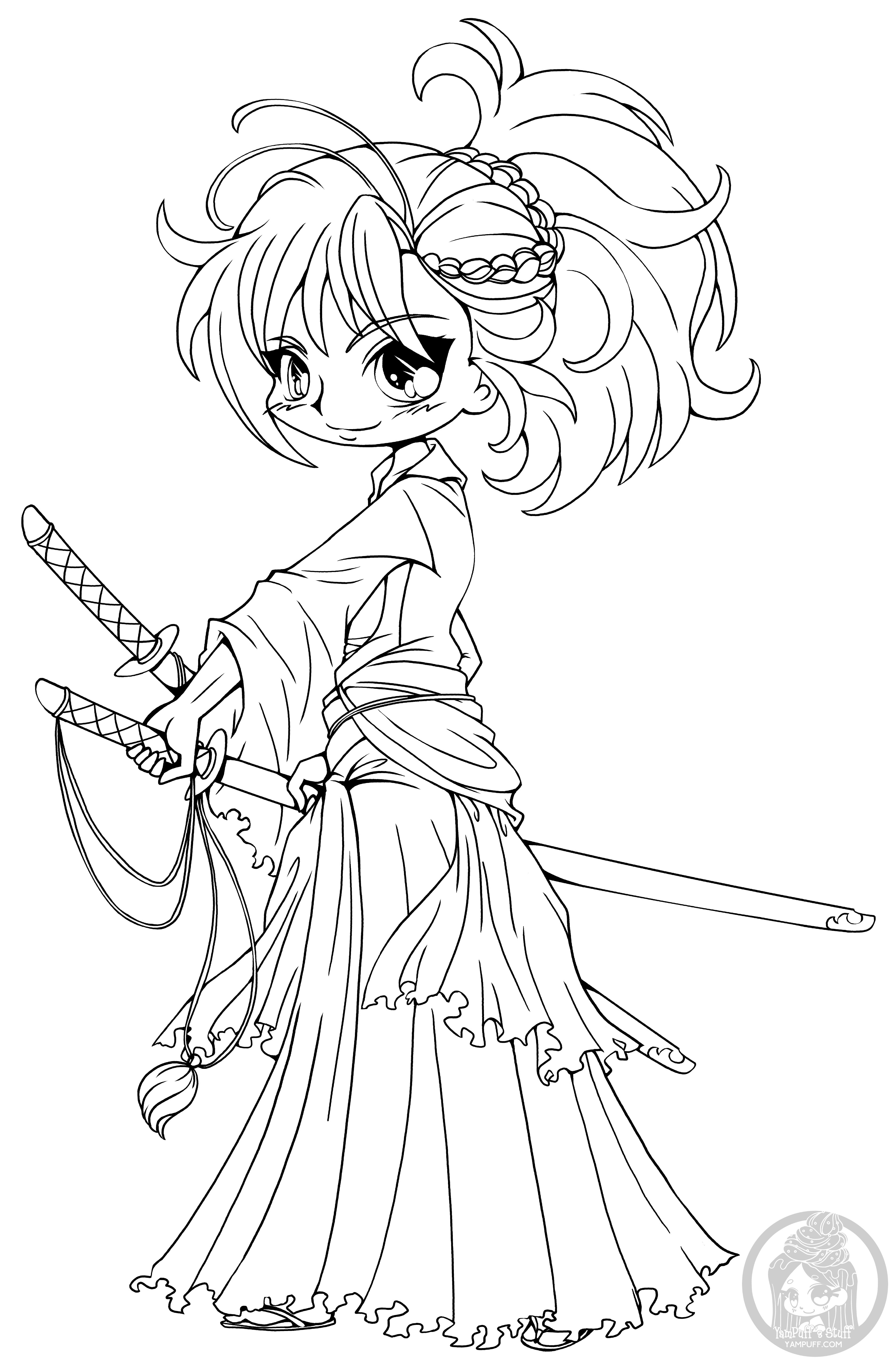 Yampuff Coloring Pages  Fanart Free Chibi Colouring Pages • YamPuff s Stuff