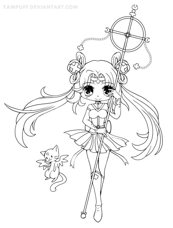 Yampuff Coloring Pages  Sailor Irumei Lineart by YamPuff on DeviantArt