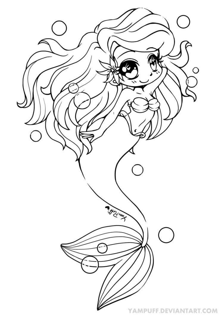 Yampuff Coloring Pages  Ariel The Little Mermaid Mermay by YamPuff on DeviantArt
