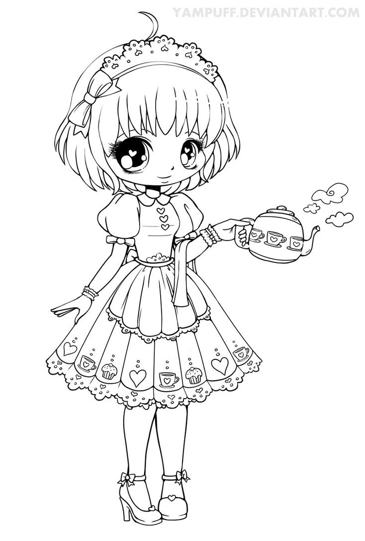 Yampuff Coloring Pages  Honey Lineart by YamPuff on DeviantArt
