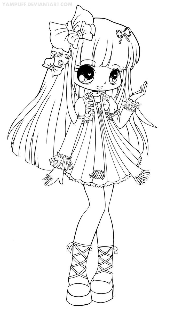 Yampuff Coloring Pages  Chloe Lineart by YamPuff on deviantART