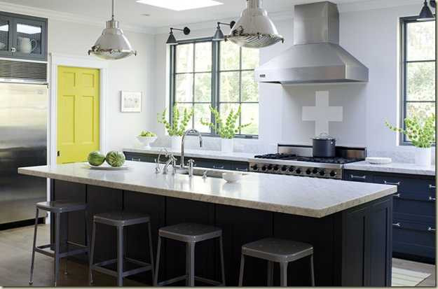 Best ideas about Yellow And Grey Kitchen Decor . Save or Pin Yellow Color Accents Jazz Up Elegant Dark Gray Kitchen Now.