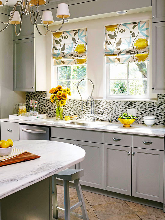 Best ideas about Yellow And Grey Kitchen Decor . Save or Pin Gray and Yellow Kitchen Contemporary kitchen BHG Now.