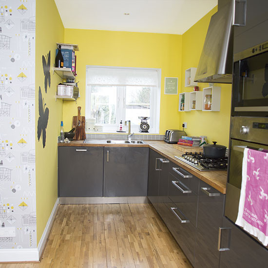 Best ideas about Yellow And Grey Kitchen Decor . Save or Pin Yellow and grey kitchen Decorating Now.