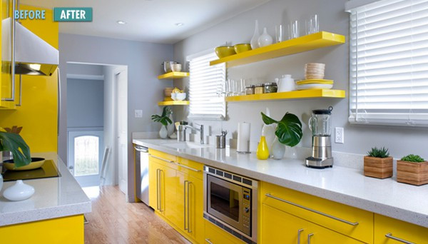 Best ideas about Yellow And Grey Kitchen Decor . Save or Pin Hot Color bo Yellow & Gray Now.