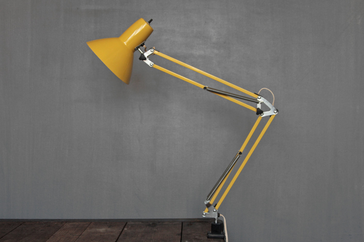 Best ideas about Yellow Desk Lamp . Save or Pin Mid Century Yellow Desk Lamp Industrial Task Lamp Clamp Light Now.