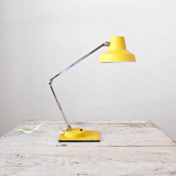 Best ideas about Yellow Desk Lamp . Save or Pin Vintage Yellow Tensor Lamp Articulating Desk Lamp Now.