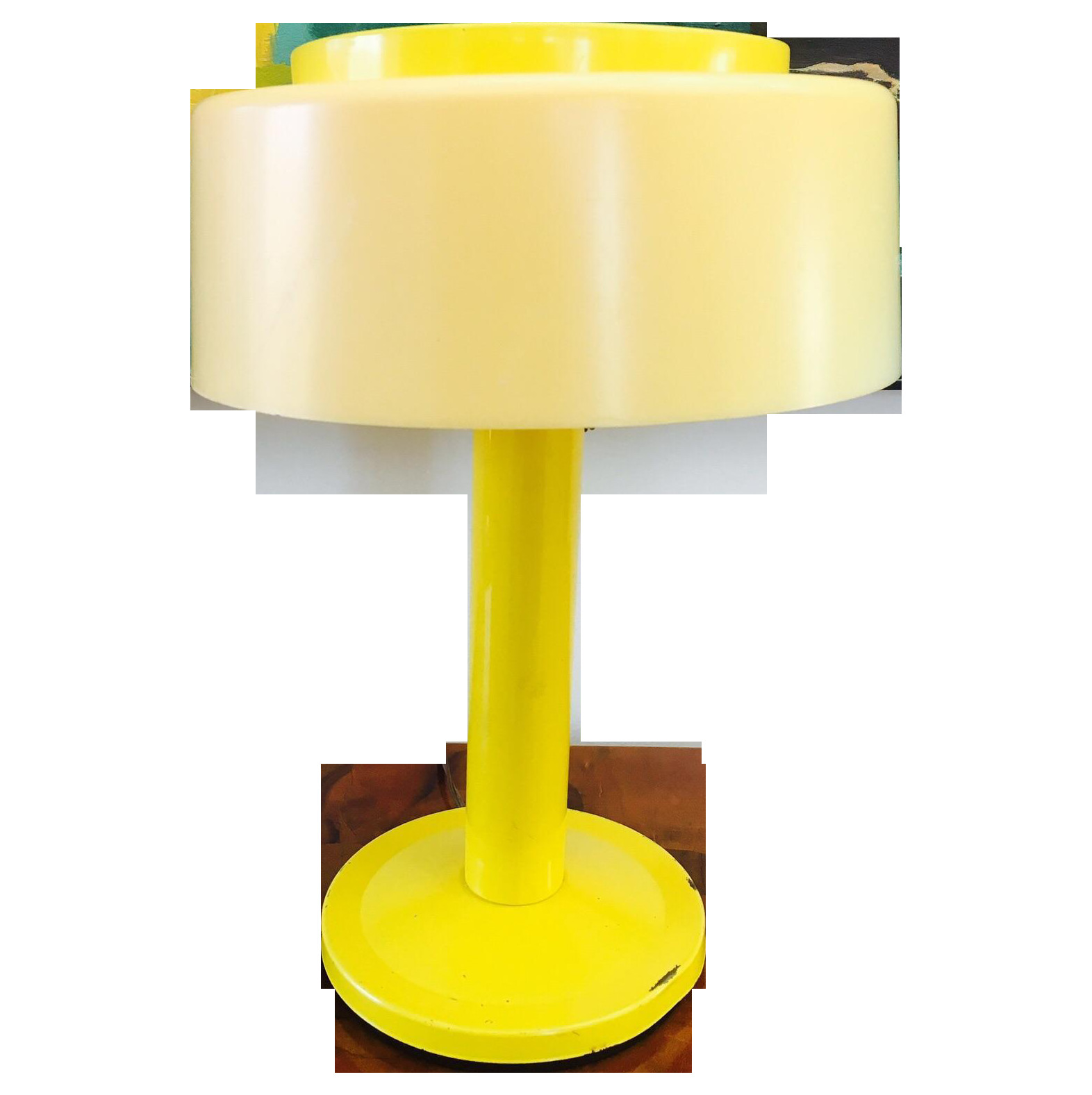 Best ideas about Yellow Desk Lamp . Save or Pin Modern 60 s Yellow Desk Lamp Now.