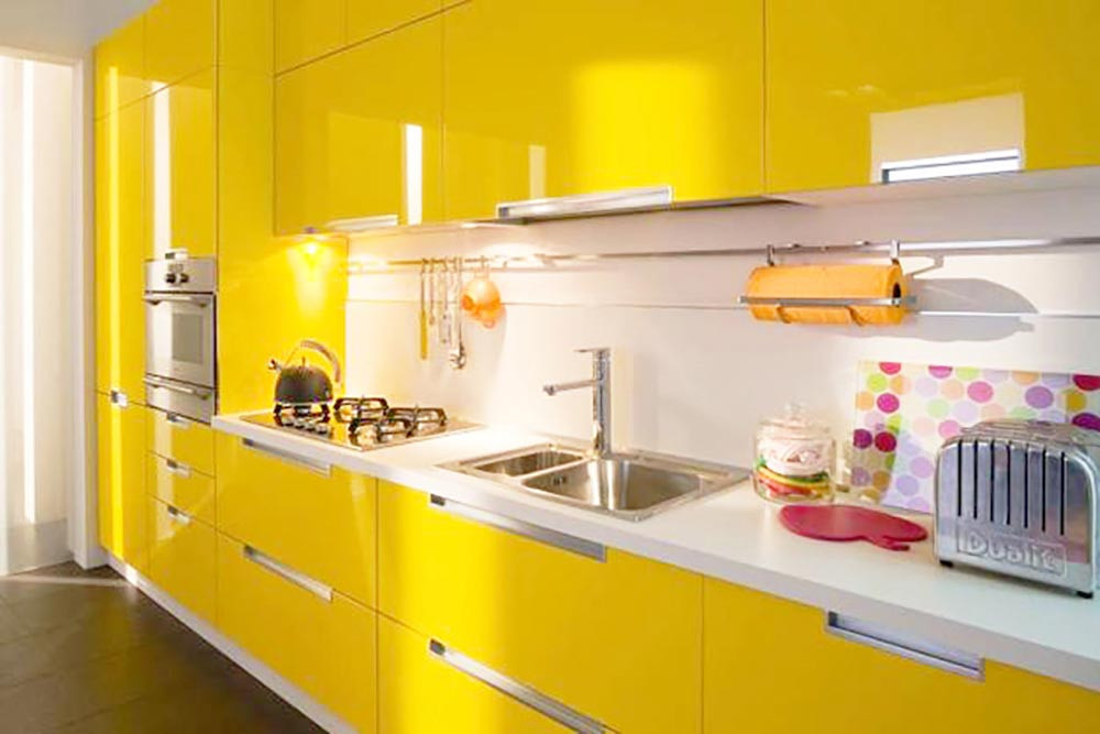 Best ideas about Yellow Kitchen Decor . Save or Pin Yellow Kitchen Decoration Creates Cheerfulness While Cooking Now.