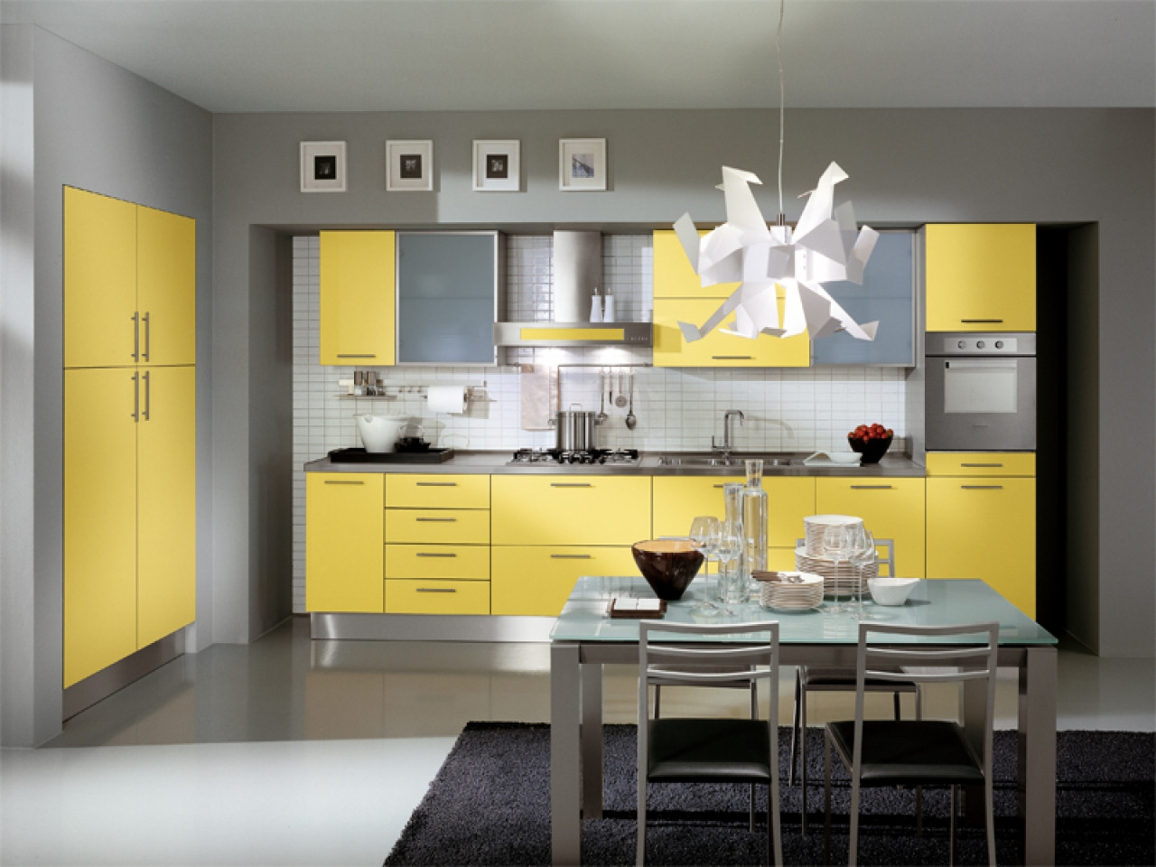 Best ideas about Yellow Kitchen Decor . Save or Pin Kitchen decorating ideas with red accents grey and yellow Now.