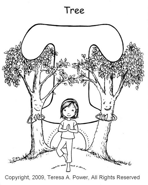 Yoga Coloring Pages  From The Heart Up Yoga for Kids FREE Printables