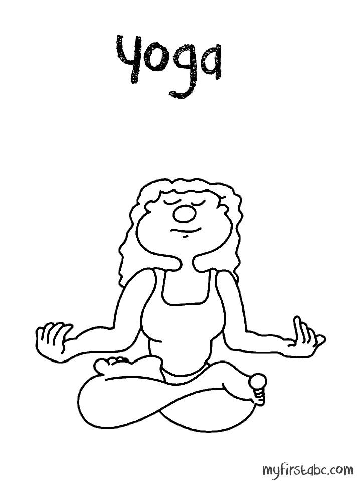Yoga Coloring Pages  Yoga Coloring Pages Coloring Home
