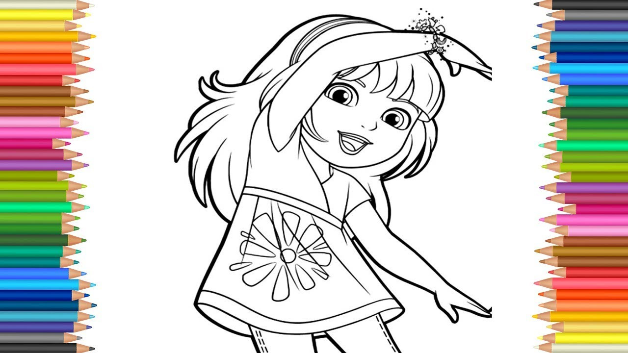 You Jtube Free Coloring Books For Toddlers  Dora and Friends Coloring Page