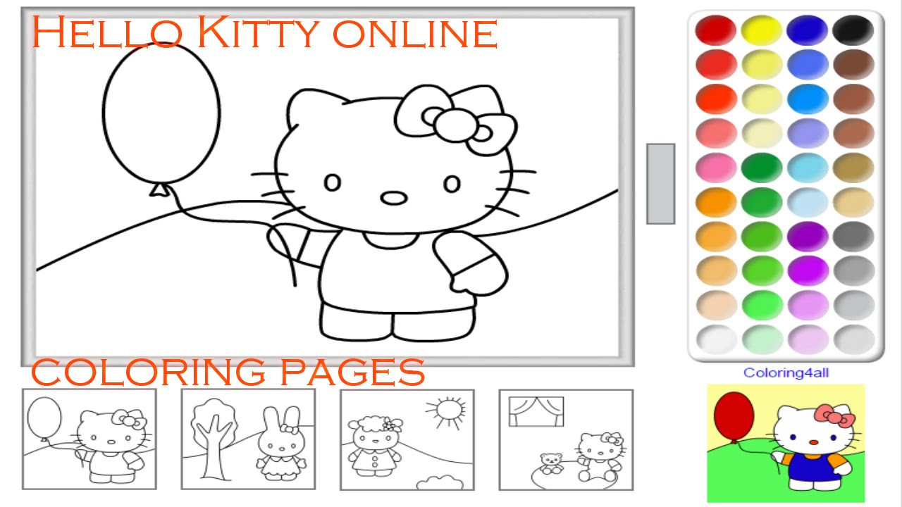 You Jtube Free Coloring Books For Toddlers  Hello Kitty line Coloring Pages Game For Kids Kitty