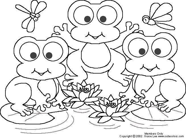 You Jtube Free Coloring Books For Toddlers  Pinto Dibujos Ranitas para colorear