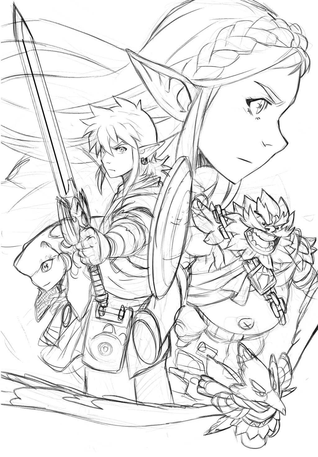Zelda Breath Of The Wild Coloring Pages  Legend Zelda Breath The Wild Coloring Pages The