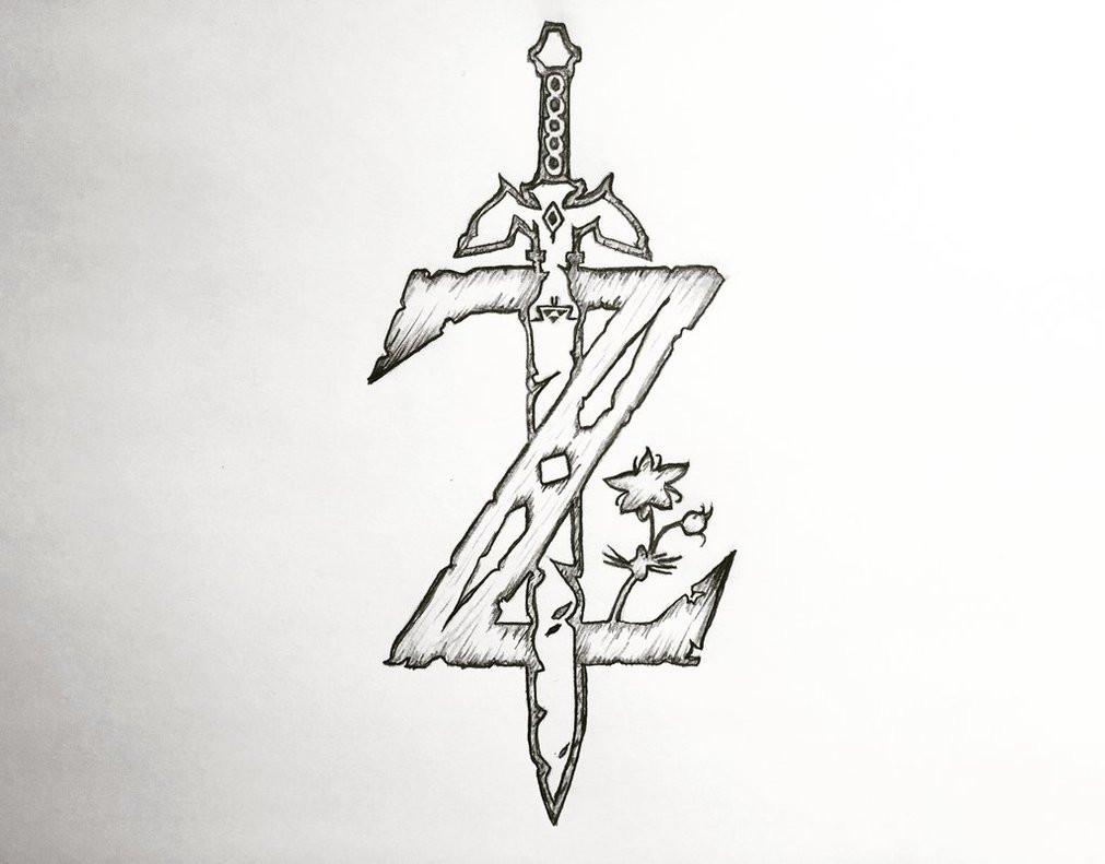Zelda Breath Of The Wild Coloring Pages  The Legend of Zelda Breath of the Wild Z Logo by