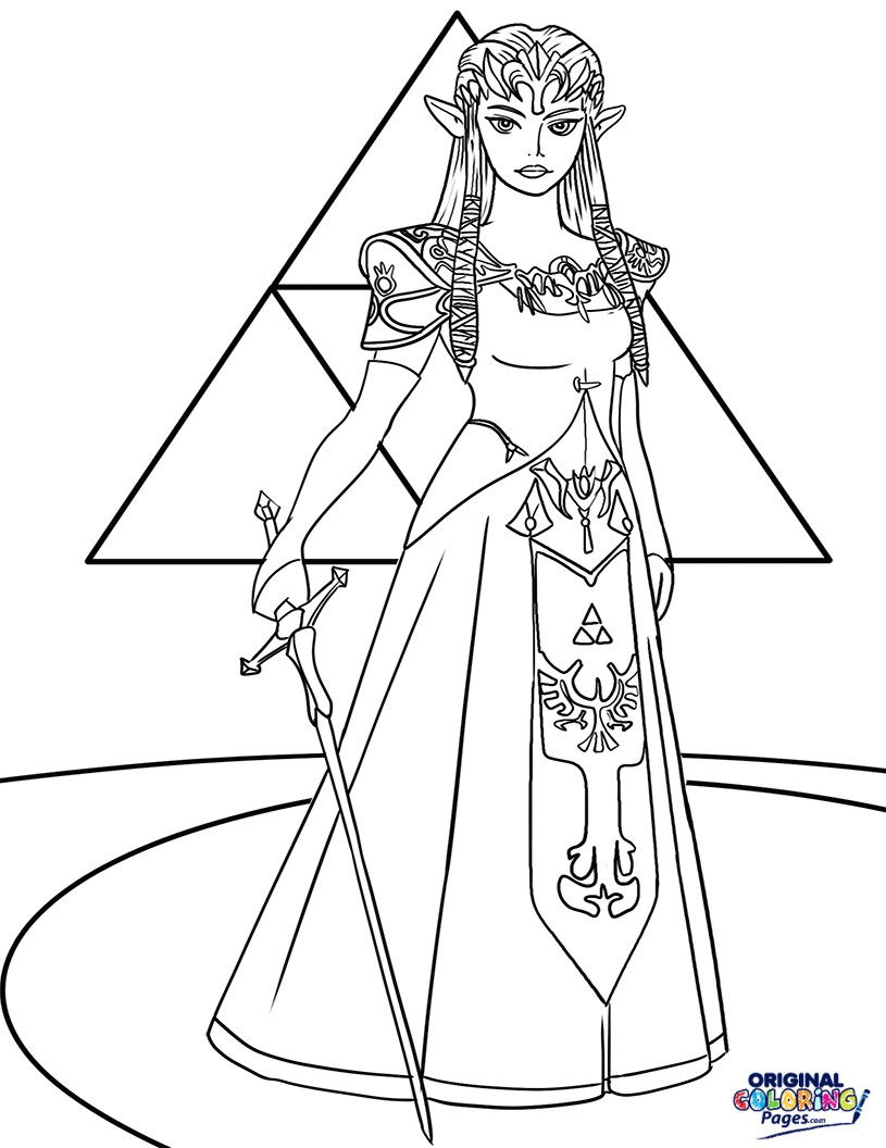 Zelda Breath Of The Wild Coloring Pages  The Legend Zelda Breath The Wild Coloring Pages