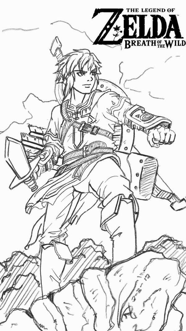 Zelda Breath Of The Wild Coloring Pages  ChaoticJustice88 Ricky Jr Nomura