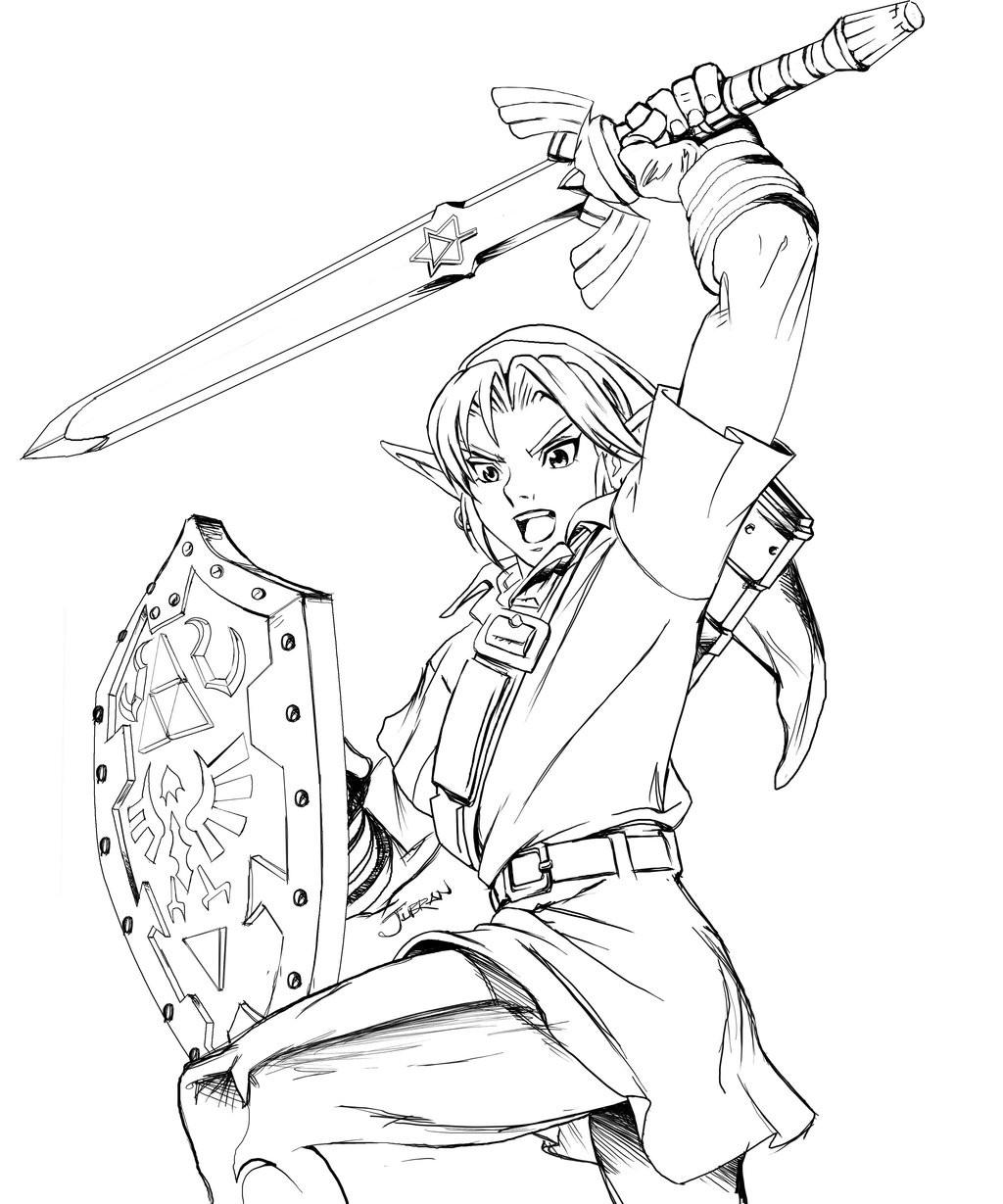 Zelda Breath Of The Wild Coloring Pages  Coloriage Zelda Les beaux dessins de Autres à imprimer