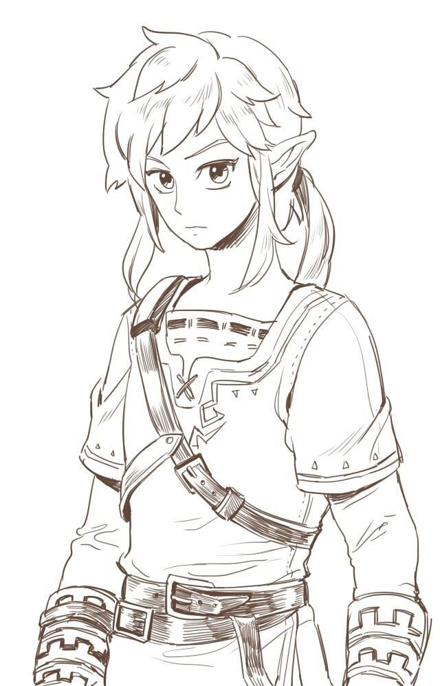 Zelda Breath Of The Wild Coloring Pages  74 best images about legend of zelda coloring pages on