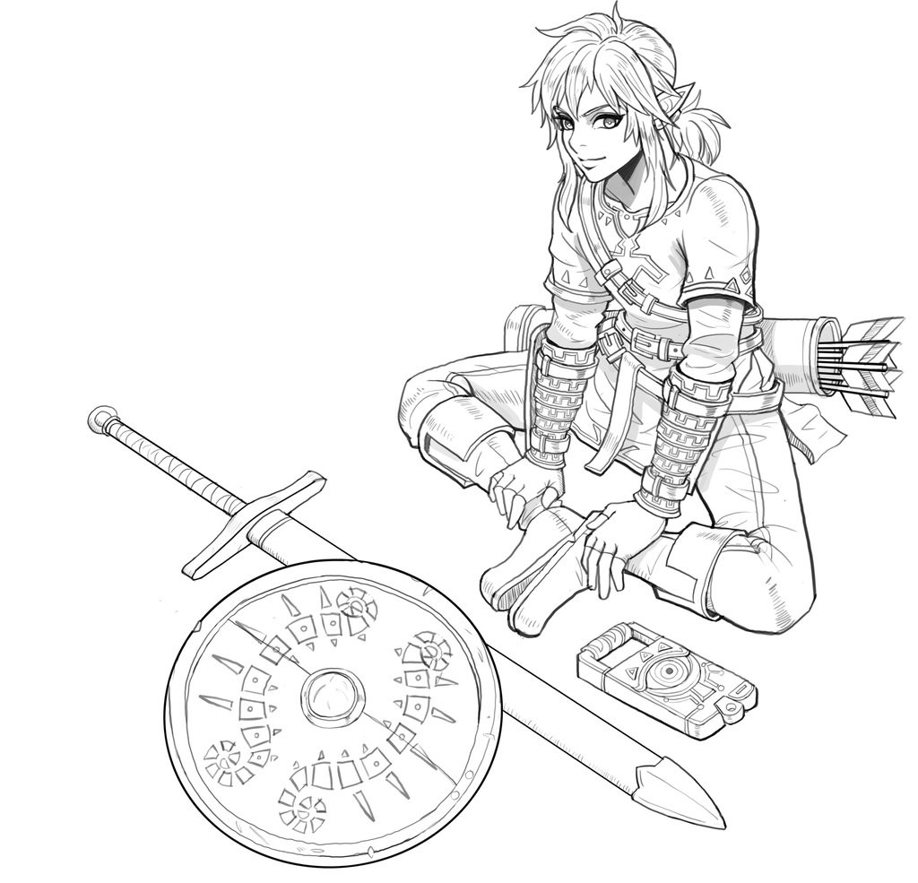 Zelda Breath Of The Wild Coloring Pages  Link breath of the wild fanart by Lukreva on DeviantArt
