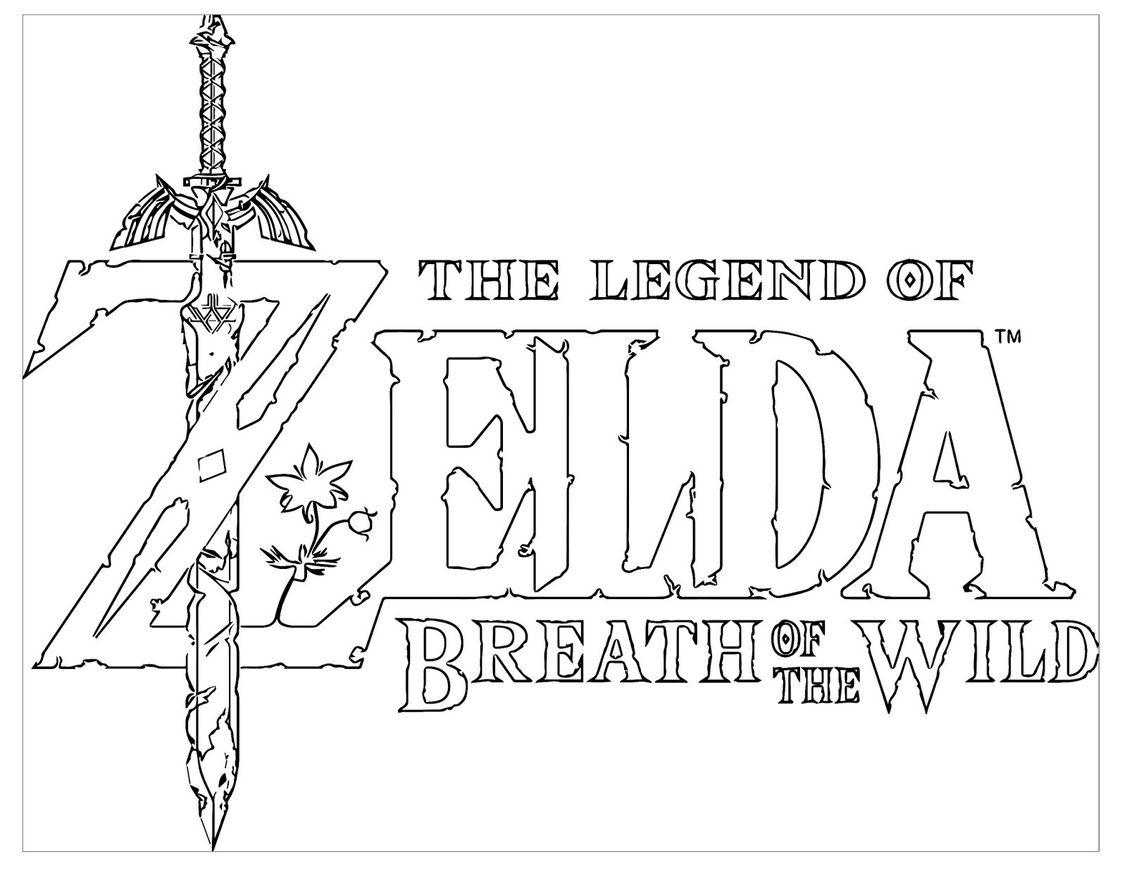 Zelda Breath Of The Wild Coloring Pages  My Cup Overflows
