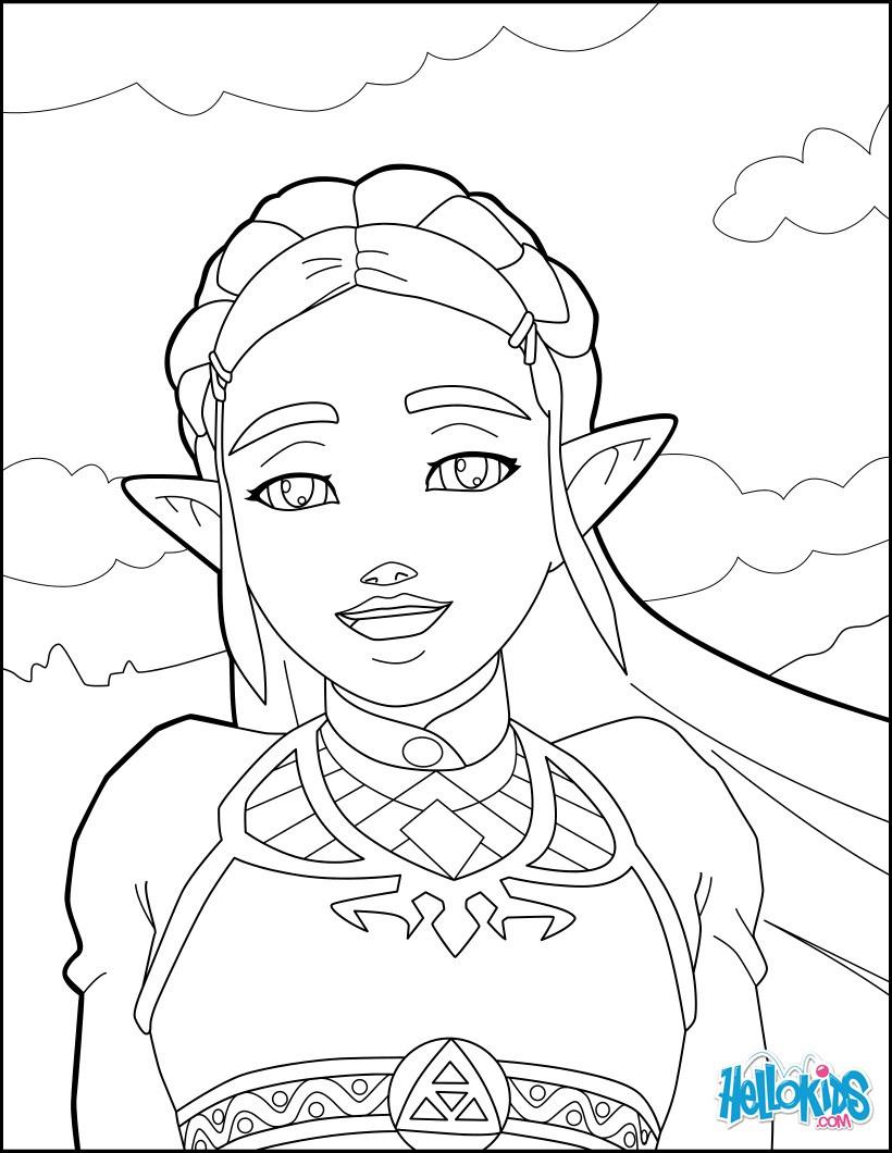 Zelda Breath Of The Wild Coloring Pages  Zelda breath of the wild coloring pages Hellokids