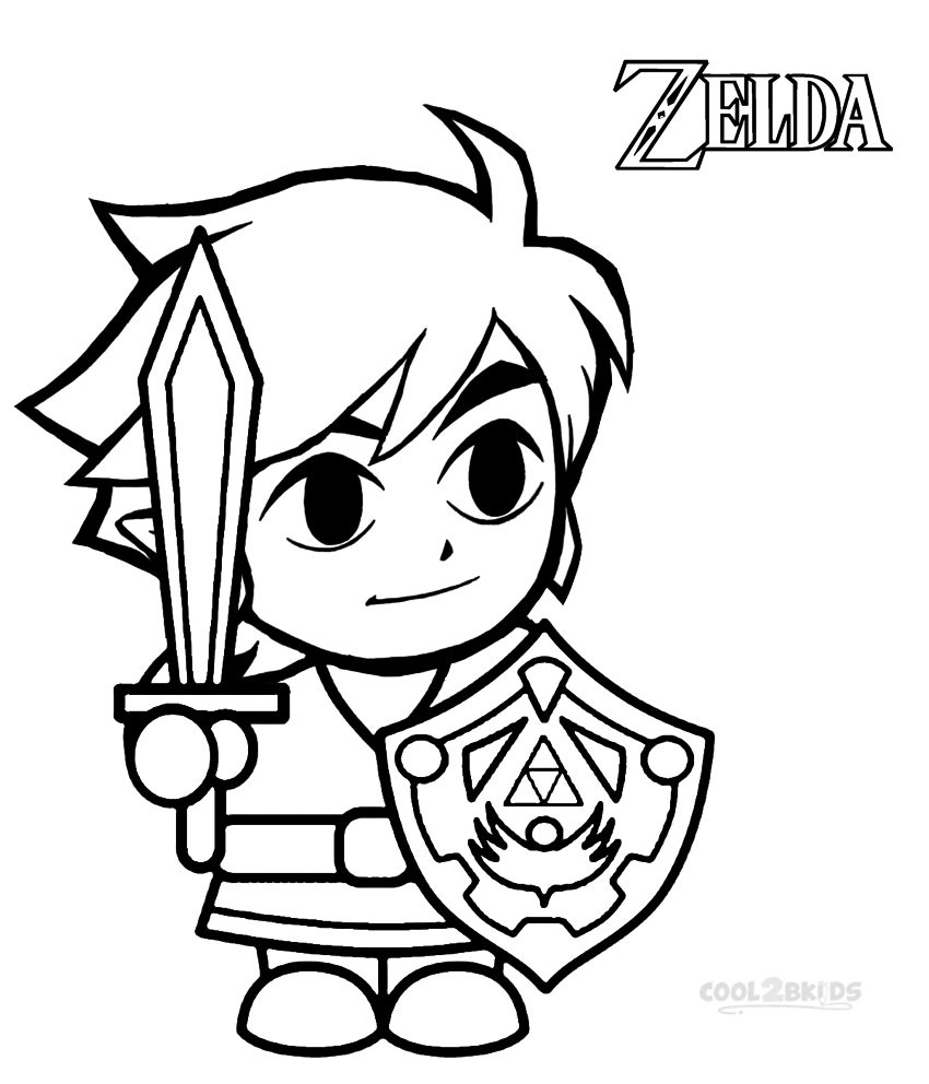 Zelda Breath Of The Wild Coloring Pages  Zelda Breath The Wild Pages Coloring Pages