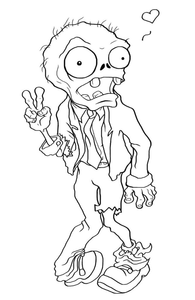 Zombie Coloring Pages For Kids  Free Printable Zombies Coloring Pages For Kids