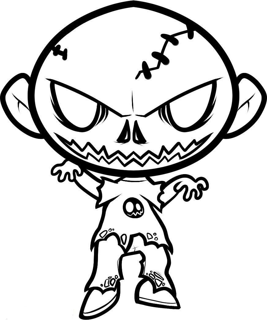 Zombie Coloring Pages For Kids  Zombie Coloring Pages For Children AZ Coloring Pages
