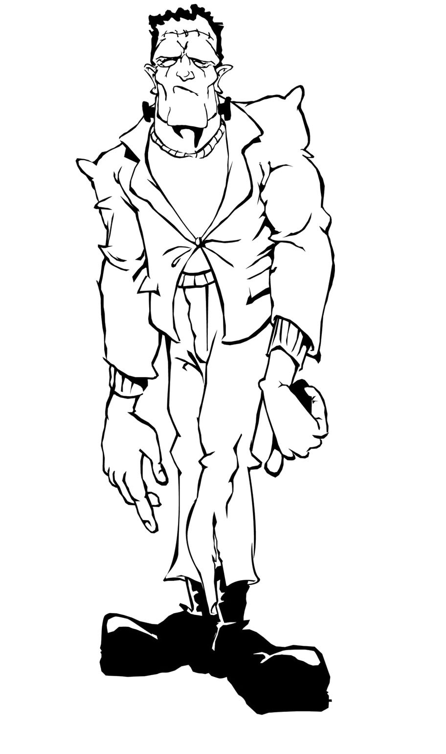 Zombie Coloring Pages For Kids  Zombie Coloring Pages