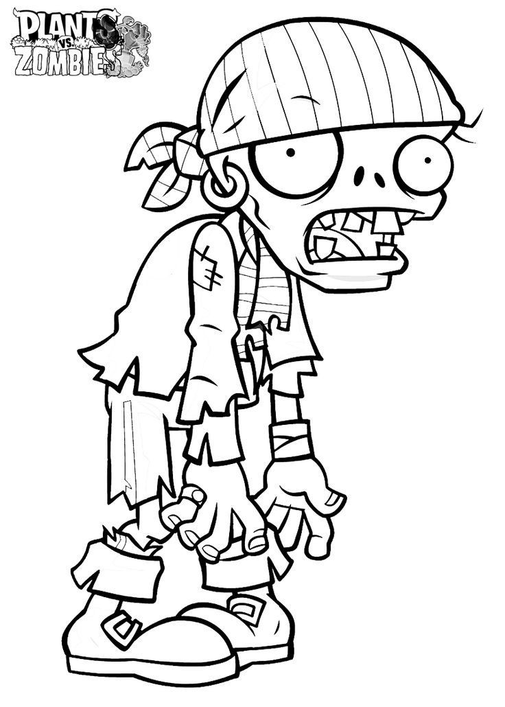 Zombie Coloring Pages For Kids  Plants Vs Zombies Coloring Pages Coloring Home