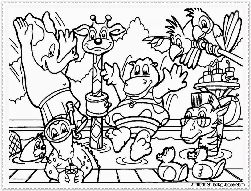 Zoo Animals Coloring Pages  Zoo Animal Coloring Pages