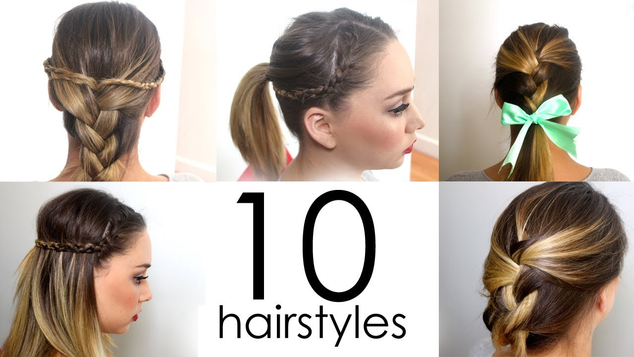 Best ideas about 10 Easy Hairstyles . Save or Pin 10 Quick & Easy Everyday Hairstyles in 5 minutes Now.