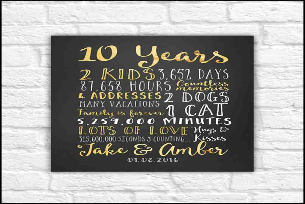 Best ideas about 10 Year Wedding Anniversary Gift Ideas For Her . Save or Pin Inspirational 10 Year Wedding Anniversary Gift Ideas for Now.
