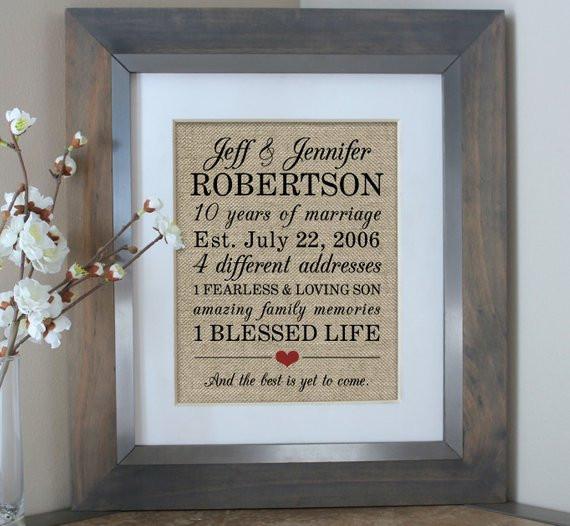 Best ideas about 10 Year Wedding Anniversary Gift Ideas For Her . Save or Pin 10 Year Anniversary Gift for Men 10th Wedding Anniversary Now.