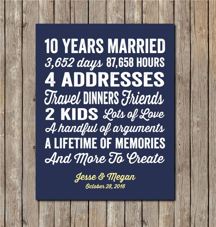 Best ideas about 10 Year Wedding Anniversary Gift Ideas For Her . Save or Pin 10 Year Wedding Anniversary Gift Now.