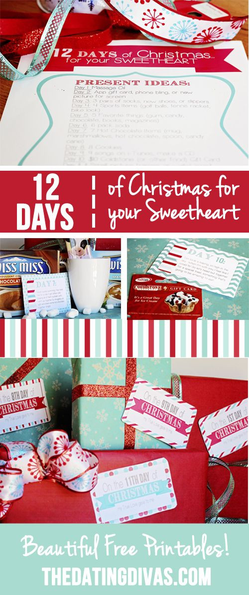 Best ideas about 12 Days Of Christmas Gift Ideas For Boyfriend . Save or Pin 12 Days of Christmas Countdown for your Sweetheart Now.