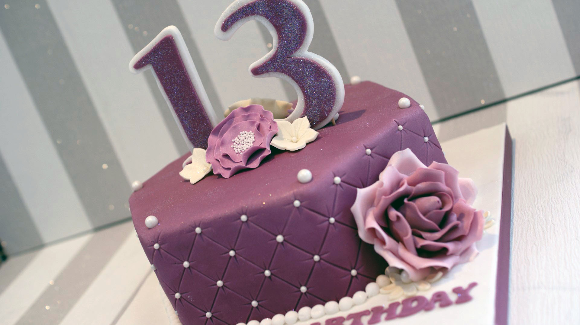 Best ideas about 13 Year Old Girl Birthday Cake . Save or Pin Pretty 13th Birthday Cake Bakealous Now.